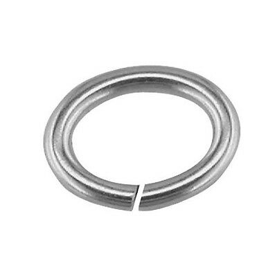 2 x 4mm 5mm 6mm 7mm 8mm 9mm 10mm Sterling 925 Silver Strong Open Oval Jump Rings