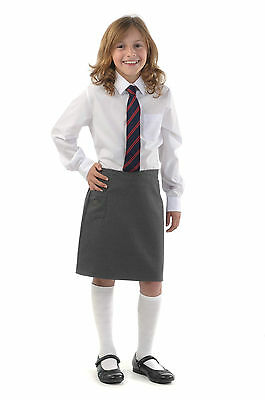 Girls school skirt with heart pocket Grey Black Green Brown Navy Made in England