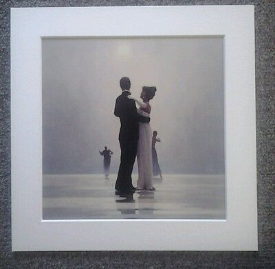 """Jack Vettriano""""Dance Me To The End Of Love"""" Mounted Art Print Square Mount"""
