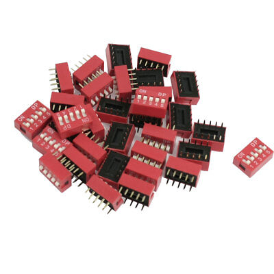 33 Pcs 2.54mm Pitch 5 Position Side Slide DIP Switches