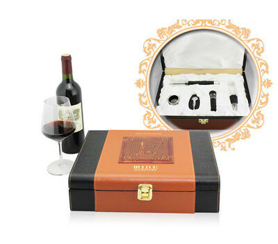 Deluxe Wine Accessory Leather Gift Set S/5 – Model AUS09
