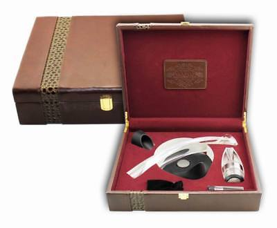 Deluxe Wine Accessory PU Leather Gift Set S/5 – Model AUS29
