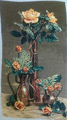 Roses, Hand made embroidery, gobelin
