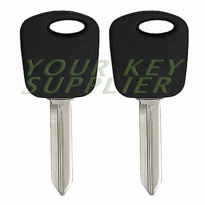2 - New Uncut Replacement Transponder Chip Car Key Chipped Head for Ford Lincoln