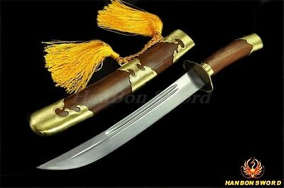 """HIGH QUALITY HAND MADE CHINESE SWORD QIN DAO """"清刀"""" FOLDED STEEL BLADE"""