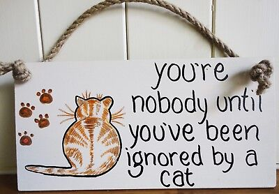 Shabby Chic Ignored By A Cat Ginger Tom Kitten Friend Birthday Christmas Gift