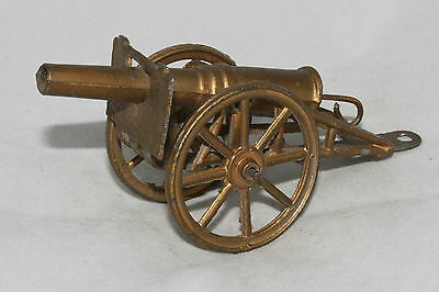 Early Die Cast Cannon, Gold Color, Nice Original