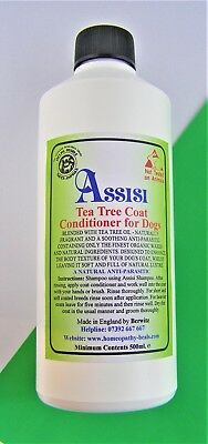 Tea-Tree Oil Natural Coat Conditioner - For Show Dogs & Puppies 500Ml- Detangles