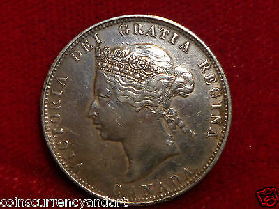 1872 H Canada Twenty Five Cents Beautiful Victorian Coin