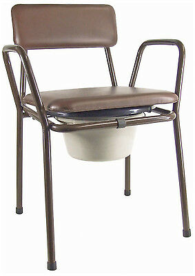 Kent Stacking Quality Commode Aid - Fixed Height With Padded Seat And Backrest