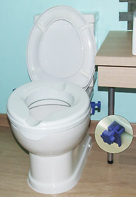Senator Ergonomically Designed ABS Plastic Raised Bathroom Toilet Seat Aid