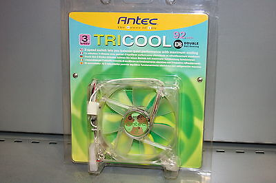 Ventilador 0-761345-75093-6  Antec Tricool 92mm Double Ball-Bearing 3-speed- New