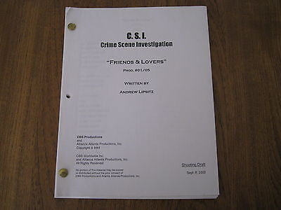 "CSI Crime Scene Investigation ""Friends & Lovers"" Episode TVS 135"