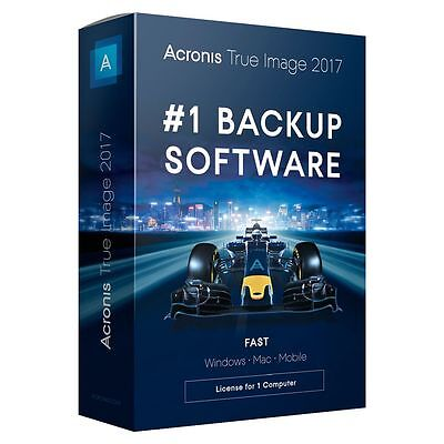Acronis True Image 2017 Personal Backup Software for 1 PC, Windows and Mac