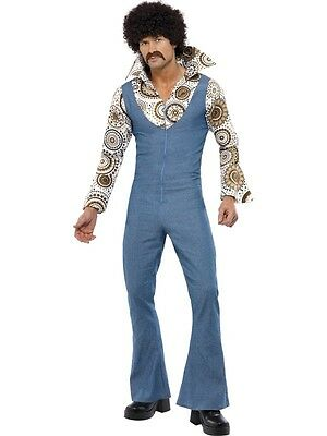ADULT MENS 60s/70s HIPPIE/HIPPY DISCO GROOVY DANCER COSPLAY COSTUME - 3 SIZES