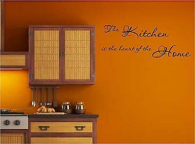 The Kitchen is the heart of the home   vinyl wall decal