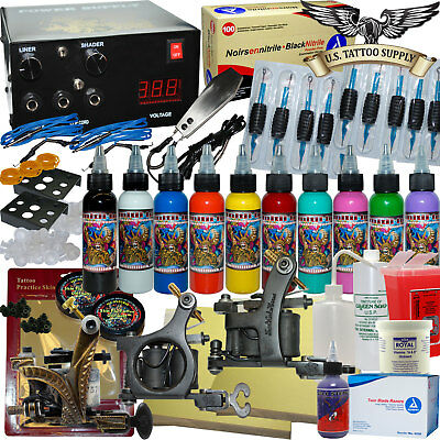 Master Tattoo Kit - Tattoo Machines, Power Supply......