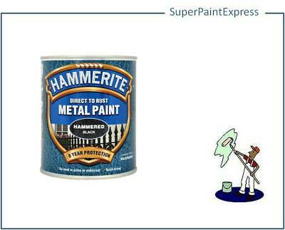Hammerite Hammered Metal Paint 750ml  All Colours  black blue copper silver whi