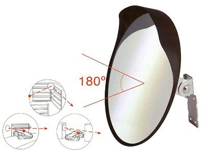 40cm Convex Mirror to Improve Visibility - Traffic, Driveways, Safety & Security