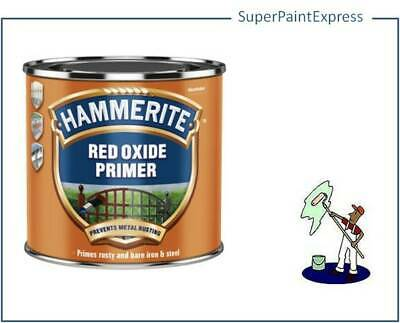 HAMMERITE RED OXIDE METAL PRIMER 500ML For Iron and Steel Anti Corrosive