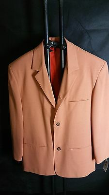 Vintage Retro Sakko Jacke Woll Mix PHÖNIX Mens jacket apricot orange S, L, XL