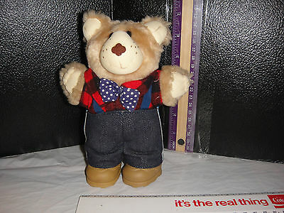 COLLECTIBLE - WENDY'S  1986 FURSKINS BEAR BOW TIE SHOES RETRO HTF