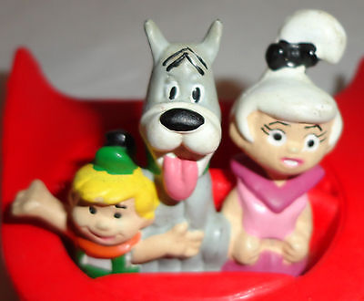 VINTAGE 1990 Jetsons Applause Figure with Astro, Elroy & Judy in Space CAR