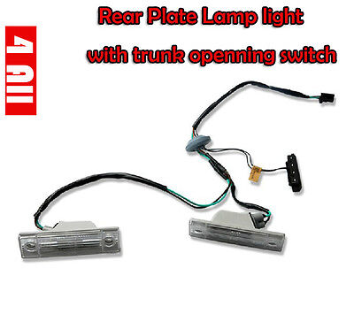 Rear Plate Lamp light with trunk Boot openning switch for Chevy Cruze 2009+