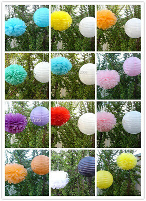 paper lanterns pom poms engagement wedding party Easter baby shower events decor