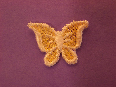 Small Yellow Butterfly Embroidery Applique Patch Emblem Lot (12 Dozen)