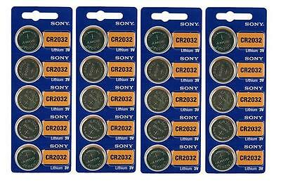 20 Genuine Sony CR2032 3v Lithium 2032 Coin Battery Freshly Packed by Sony
