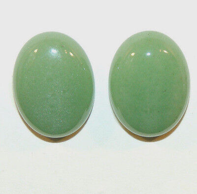 Aventurine Cabochons 20x15mm with 6mm dome Set of 2 (4504)