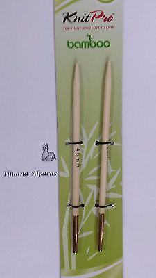 Knit Pro Bamboo Interchangeable Needle Tips 4.50MM N022404