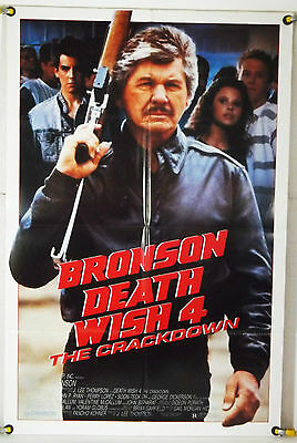 Death Wish 4: The Crackdown Ff Orig 1Sh Movie Poster Charles Bronson (1987)