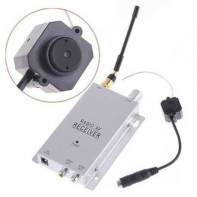 NEW DIY Wireless Mini Spy Nanny Pinhole Security Camera System 1.2GHz Receiver