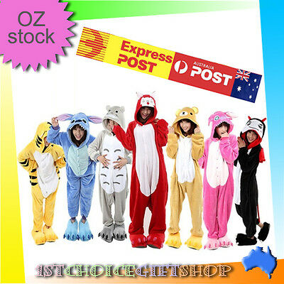 Unisex Adult Animal Kigurumi Pyjamas Pajama Sleepsuit Costume fleece