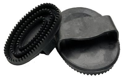 Rubber Curry Comb - Horse Grooming - Large, Black