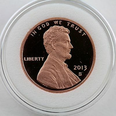 2013-S Lincoln Proof Cent Deep Cameo in Crystal Clear Archival Coin Capsule