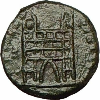 THEODOSIUS I  the Great 388AD Authentic Ancient Roman Coin Military GATE i17322