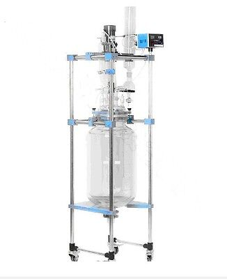 20L Jacketed Glass Chemical Reactor Vessel Explosion Proof Customizable t