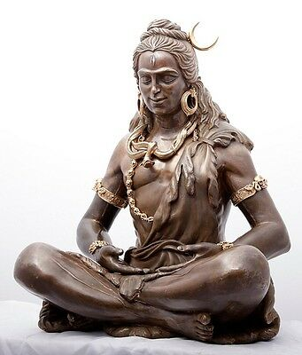 Shiva Bronce Bronze Sculpture, Yoga, Meditation, India Crypto-Currency accepted!