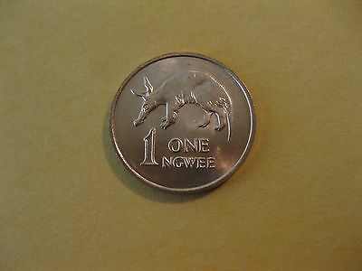 "1983 Zambia Coin  ""AARDVARK"", 1 Ngwee,  uncirculated beauty, amimal coin"