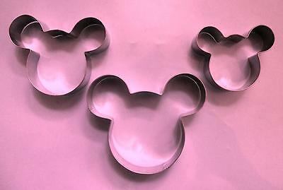 "2.5"" & 3"" & 3.5"" mickey mouse biscuit cookie cutter 3pcs/set"