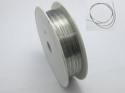 24 Metres Silver Brass Beading Wrap Jewelry Wire Craft 0.4mm 26 gauge