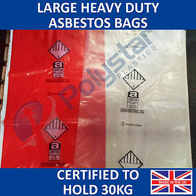 Asbestos bags 900 x 1200mm heavy duty MADE IN THE UK