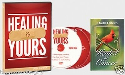 "Joel Osteen ""Healing Is Yours!"" CD & DVD Series & ""Healed of Cancer"" book -Dodie"