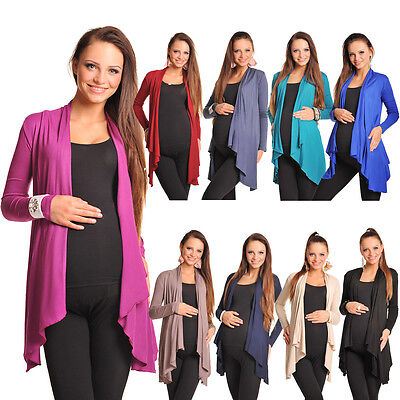 Maternity Floaty Waterfall Cardigan Shrug Jacket Top Size 8 10 12 14 16 18 4008