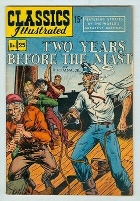 Classics Illustrated #25 VG HRN 71 Two Years Before the Mast