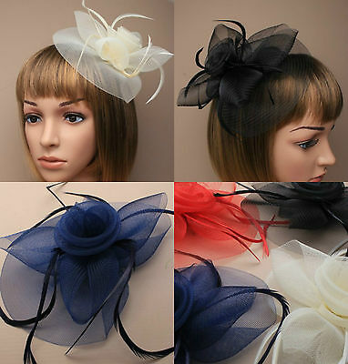 Feather Beak Clip Ladies Fascinator Weddings Royal Ascot Ladies Day Races 29