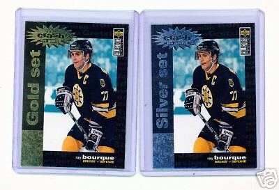 1995-96 Ud Cc Ray Bourque Crash Gold & Silver Cards